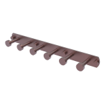 Allied Brass - Fresno Collection 6 Position Tie and Belt Rack - Antique Copper