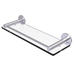 Allied Brass - Fresno Collection Glass Shelf with Vanity Rail - Satin Chrome