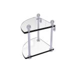 Allied Brass - 2 Tier Corner Glass Shelf - Polished Chrome