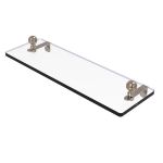 Allied Brass - Mambo Collection Glass Vanity Shelf with Beveled Edges - Antique Pewter