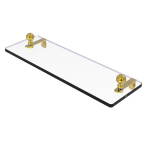 Allied Brass - Mambo Collection Glass Vanity Shelf with Beveled Edges - Unlacquered Brass