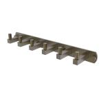 Allied Brass - Montero Collection 6 Position Tie and Belt Rack - Antique Brass