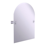 Allied Brass - Montero Collection Contemporary Frameless Arched Top Tilt Mirror with Beveled Edge - Satin Chrome
