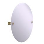 Allied Brass - Montero Collection Contemporary Frameless Oval Tilt Mirror with Beveled Edge - Unlacquered Brass