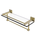 Allied Brass - Montero Collection Gallery Rail Glass Shelf with Towel Bar - Satin Chrome