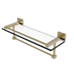 Allied Brass - Montero Collection Gallery Rail GlassShelf with Towel Bar - Unlacquered Brass