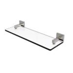 Allied Brass - Montero Collection Glass Vanity Shelf with Beveled Edges - Satin Nickel