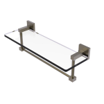 Allied Brass - Montero Collection Glass Vanity Shelf with Integrated Towel Bar - Antique Brass