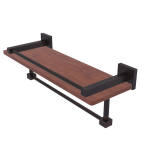 Allied Brass - Montero Collection IPE Ironwood Shelf with Gallery Rail and Towel Bar - Venetian Bronze