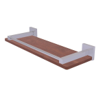 Allied Brass - Montero Collection Solid IPE Ironwood Shelf with Gallery Rail - Satin Chrome