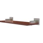 Allied Brass - Montero Collection Solid IPE Ironwood Shelf - Satin Nickel