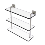 Allied Brass - Montero Collection Triple Tiered Glass Shelf - Satin Nickel