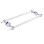 Allied Brass - Pacific Beach Collection 18 Inch Back to Back Shower Door Towel Bar - Polished Chrome