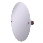 Allied Brass - Frameless Oval Tilt Mirror with Beveled Edge - Antique Copper - PMC-91