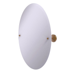 Allied Brass - Frameless Oval Tilt Mirror with Beveled Edge - Brushed Bronze - PMC-91