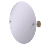 Allied Brass - Frameless Round Tilt Mirror with Beveled Edge - Antique Pewter - PMC-90