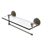 Allied Brass - Prestige Monte Carlo Collection Paper Towel Holder with Glass Shelf - Antique Brass