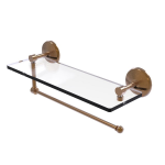 Allied Brass - Prestige Monte Carlo Collection Paper Towel Holder with Glass Shelf - Brushed Bronze