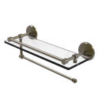Allied Brass - Prestige Monte Carlo Paper Towel Holder with Gallery Glass Shelf - Antique Brass