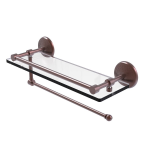 Allied Brass - Prestige Monte Carlo Paper Towel Holder with Gallery Glass Shelf - Antique Copper