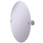 Allied Brass - Frameless Oval Tilt Mirror with Beveled Edge - Satin Nickel - PQN-91