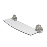 Allied Brass - Prestige Que New Collection Glass Shelf - Satin Nickel