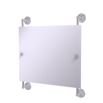 Allied Brass - Prestige Que New Landscape Rectangular Frameless Rail Mounted Mirror - Satin Chrome