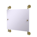 Allied Brass - Prestige Que New Landscape Rectangular Frameless Rail Mounted Mirror - Unlacquered Brass
