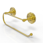 Allied Brass - Prestige Que New Wall Mounted Paper Towel Holder - Unlacquered Brass
