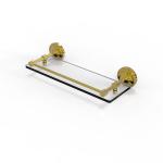 Allied Brass - Prestige Regal Collection Glass Shelf with Gallery Rail - Polished Brass