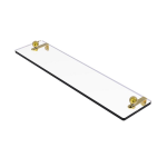 Allied Brass - Prestige Regal Collection Glass Vanity Shelf with Beveled Edges - Polished Brass