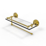 Allied Brass - Prestige Regal Collection Paper Towel Holder with Gallery Rail Glass Shelf - Polished Brass