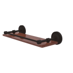 Allied Brass - Prestige Regal Collection Solid IPE Ironwood Shelf with Gallery Rail - Oil Rubbed Bronze