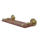Allied Brass - Prestige Regal Collection Solid IPE Ironwood Shelf with Gallery Rail - Satin Brass