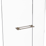 Allied Brass - Prestige Skyline Collection 18 Inch Back to Back Shower Door Towel Bar - Antique Pewter