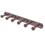 Allied Brass - Prestige Skyline Collection 6 Position Tie and Belt Rack - Antique Copper - P1000-20-6