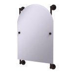 Allied Brass - Prestige Skyline Collection Arched Top Frameless Rail Mounted Mirror - Antique Bronze