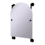 Allied Brass - Prestige Skyline Collection Arched Top Frameless Rail Mounted Mirror - Matte Black
