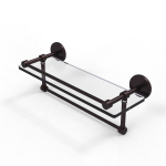 Allied Brass - Prestige Skyline Collection Gallery Glass Shelf with Towel Bar - Antique Bronze