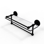 Allied Brass - Prestige Skyline Collection Gallery Glass Shelf with Towel Bar - Matte Black