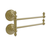 Allied Brass - Que New Collection 2 Swing Arm Towel Rail - Satin Brass