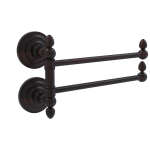 Allied Brass - Que New Collection 2 Swing Arm Towel Rail - Venetian Bronze