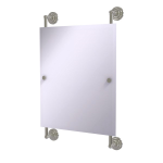 Allied Brass - Que New Collection Rectangular Frameless Rail Mounted Mirror - Satin Nickel