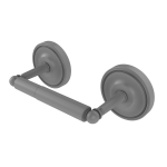 Allied Brass - 2 Post Toilet Tissue Holder - Matte Gray - R-24