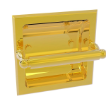 Allied Brass - Regal Collection Recessed Toilet Tissue Holder - Polished Brass
