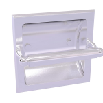 Allied Brass - Regal Collection Recessed Toilet Tissue Holder - Satin Chrome