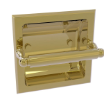 Allied Brass - Regal Collection Recessed Toilet Tissue Holder - Unlacquered Brass