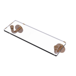 Allied Brass - Remi Collection 16 Inch Glass Vanity Shelf with Beveled Edges - Brushed Bronze