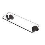 Allied Brass - Remi Collection 16 Inch Glass Vanity Shelf with Beveled Edges - Oil Rubbed Bronze