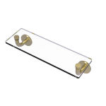 Allied Brass - Remi Collection 16 Inch Glass Vanity Shelf with Beveled Edges - Satin Brass